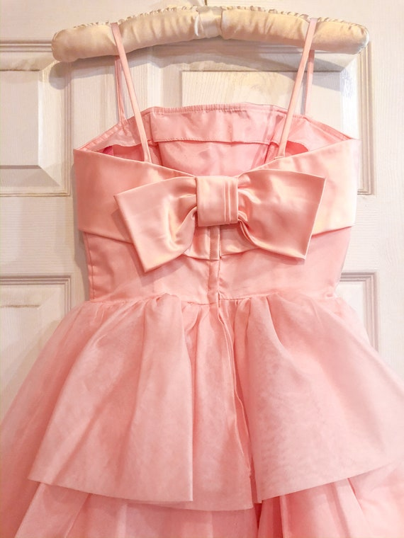 1950's Pink Party Prom Dress - image 3