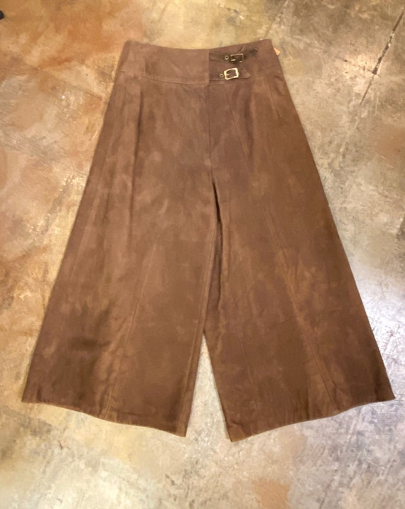 1970's Brown Suede Culottes or Gauchos