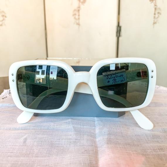 1950's White Square Deadstock Sunglasses