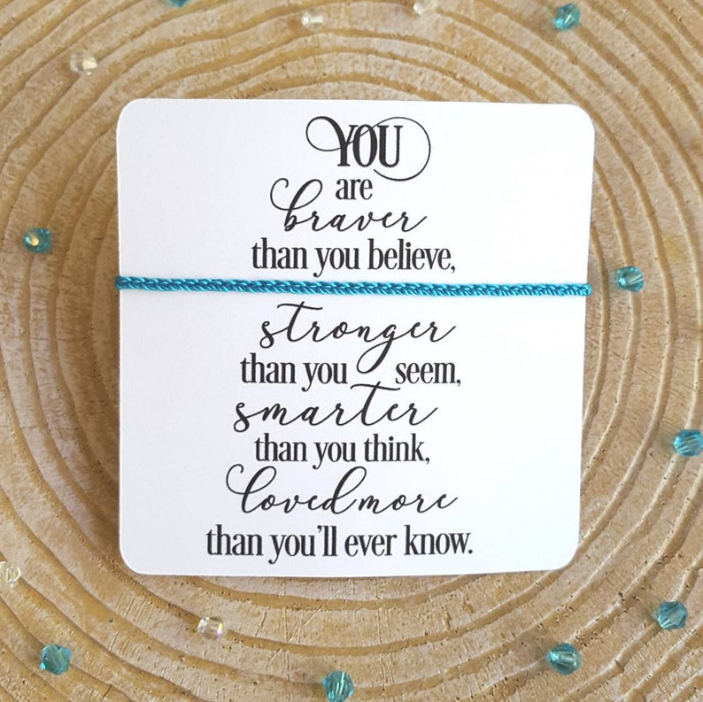 You Are Braver Micro braided Minimalist,Gift Idea Pick Your Color /& Style Dainty Adjustable Bracelet or Anklet,Friendship Bracelet