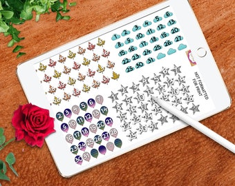 r sets of DIGITAL PLANNER date covers, GoodNotes