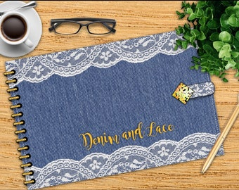 Denim'n'Lace landscape digital planner for GoodNotes, multiple layouts, for GoodNotes