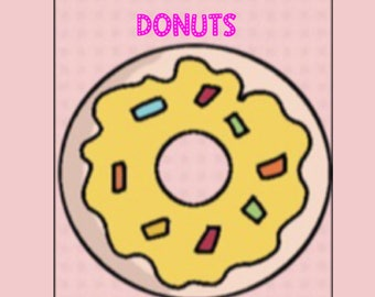 Jammies and Donuts  whimsical birthday party stickers for digital planners, includes GoodNotes-formatted sticker book