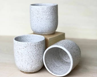 White Speckled Cups *pre order