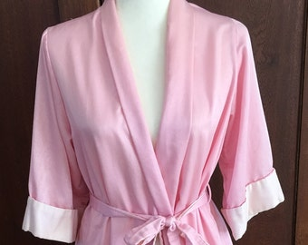 992079ce17 Medium Barbizon Long Pink Satin Robe Vintage