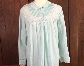 S / Barbizon Blue Nightgown / Small /Vintage Lingerie