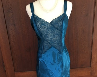 M/ Victoria's Secret/ Long Nightgown/Teal/ Gold Label/Medium