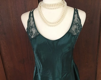 M / Victoria's Secret/ Green/ Nightgown/Slip/ Medium