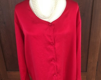L Victoria's Secret /SILK/Red/Nightshirt/Gold Label/Large