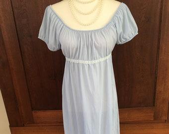 S/ Long Nightgown/Nylon/ 1960's/Small