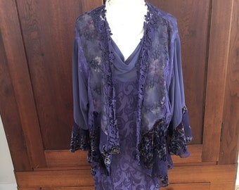 14 / Purple Dress with Jacket/ Made in USA/ Size 14