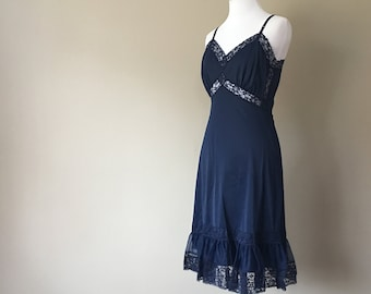27bfe8748a88c Full Slip Size 36 Lacy Navy Blue Medium Lace Extender .