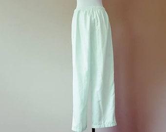 M / Pajama Pants / Sleepwear / Loungewear / Pale Green-Blue / Medium
