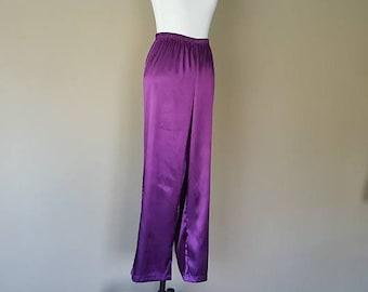 M / Sleep Pants / Pajama Bottoms / Purple / Loungewear / Medium