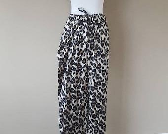 L / Victoria's Secret Sleep Pants / Pajama Bottoms / Animal Print / Vintage / Large