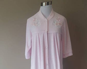 b3ac1fefd7 Duster Robe Small Miss Elaine Pink Vintage Lingerie