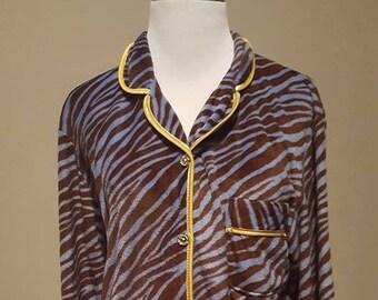 L / Adrienne Vittadini Animal Print Pajamas Large