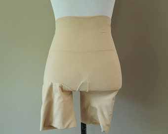 00b0bd7e0 Longline Panty Girdle XL Assets Spanx Buff Nude Beige Extra Large Vintage  Lingerie