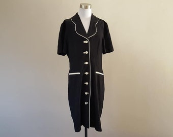 Dress Size 10 Molly Malloy For All That Jazz Marabou Feather Trim Black Made in USA Vintage Apparel