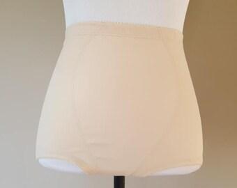 00e3fe6c0c91 Nude Panty Girdle Tight Cabernet Size Medium High Waist Full Bottom Tan  Beige Vintage Lingerie