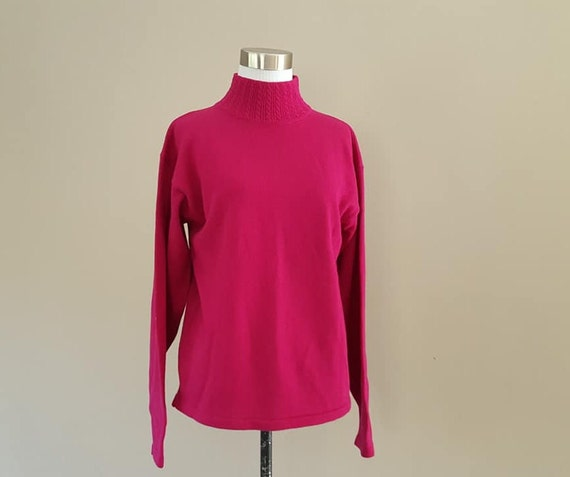 Wool Sweater Medium Limited Raspberry Pink Pullove