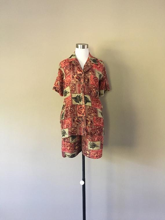 SILK Pajamas Boxer Shorts Small Bogari