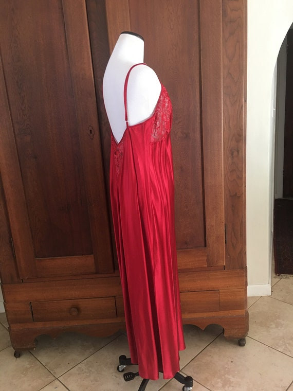 SILK Nightgown Large Nordstrom Lingerie Red... - image 4