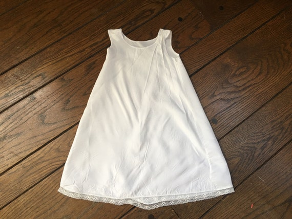Christening Dress White Cap Gown Booties and Unde… - image 9
