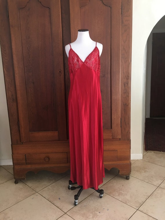 SILK Nightgown Large Nordstrom Lingerie Red...