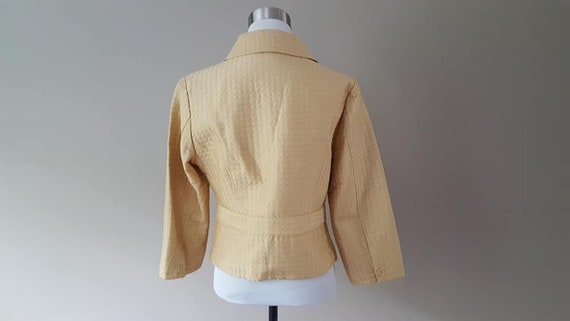 SILK Jacket Small Silkland Butter Yellow  Vintage… - image 6