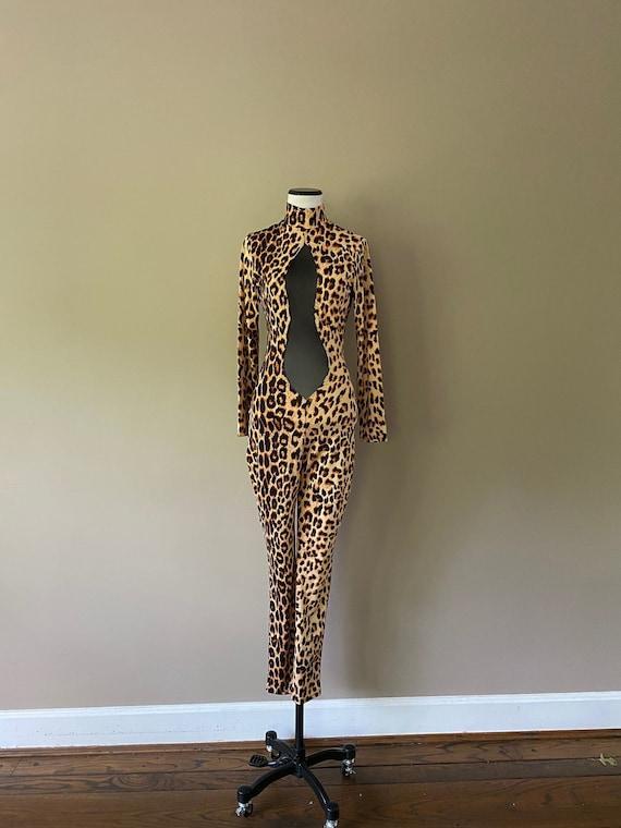 Leopard Print Cat Suit Small Medium...