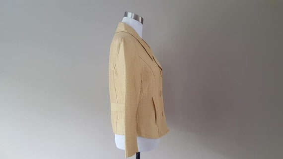 SILK Jacket Small Silkland Butter Yellow  Vintage… - image 7