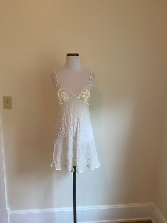 SILK Chemise Medium White Victoria's Secret ...