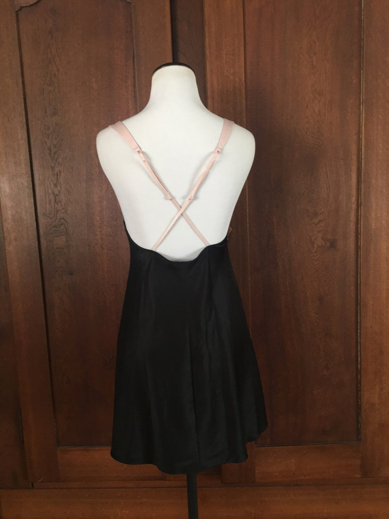 Chemise from Victoria/'s Secret Small Petite black with pink straps