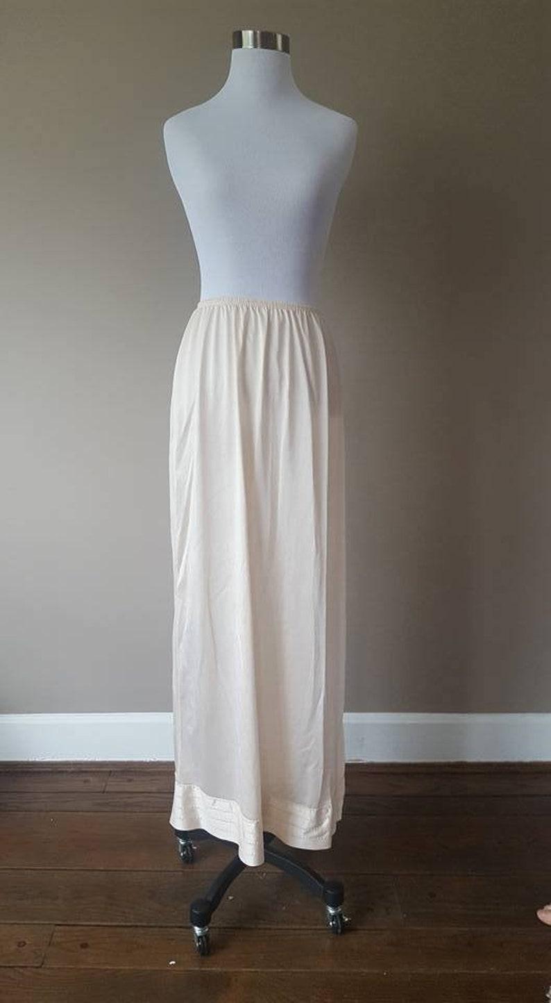 Half Slip Farr West Size S Beige Poly Chiffon Intimates & Sleep Women's Clothing