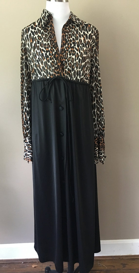 Robe Small Vanity Fair Leopard Print Vintage Linge
