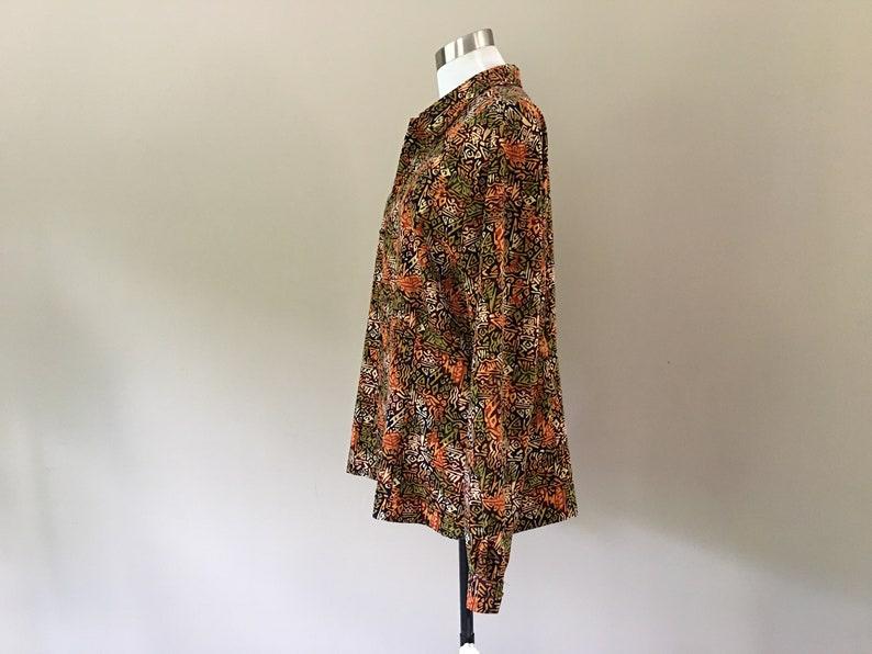 Blouse Size 14T Christie /& Jill  Geometric Purple Orange Green Yellow Long Sleeves Vintage Apparel