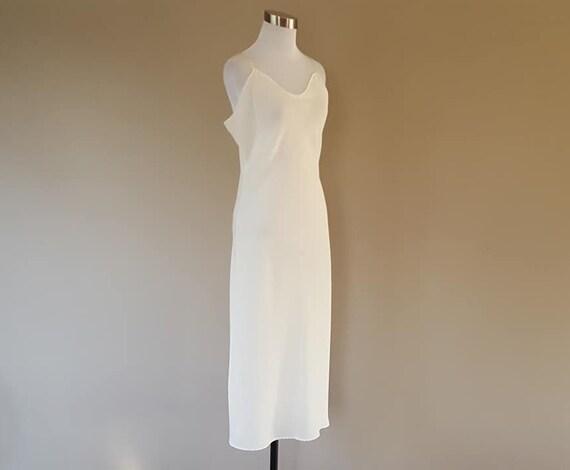 Full Slip Size 36 WonderMaid White Sheer Polyester