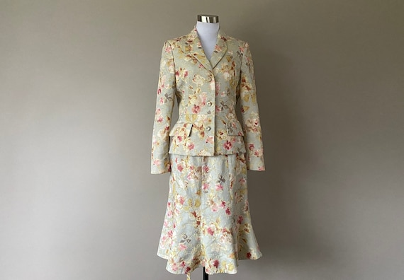 Size 6 Nippon Boutique Tulip Flared Skirt Suit Flo
