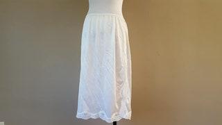 Vintage S Half Slip, Vanity Fair White Nylon, Small