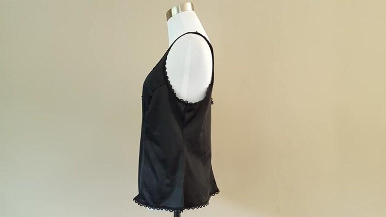 Camisole Size 38  Montgomery Ward Cami  Black Nylon  Medium Vintage Lingerie