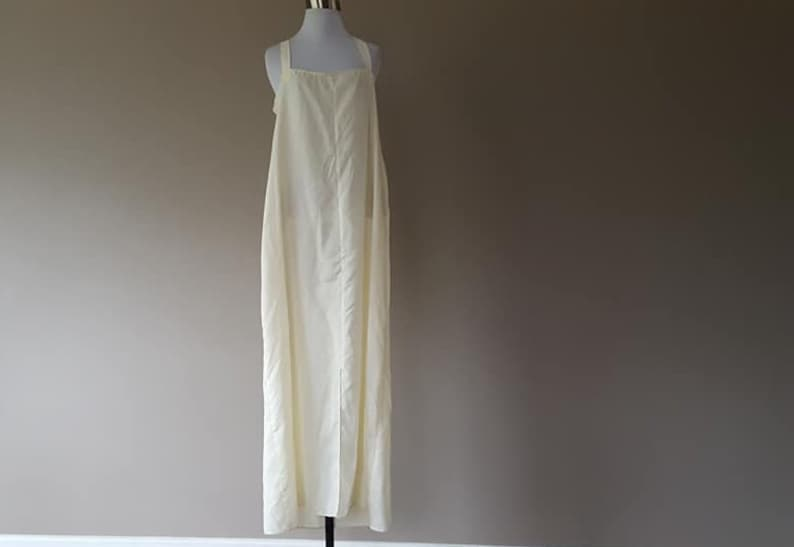 Nightgown XL Long Hand Made Off White Vintage Lingerie  ..