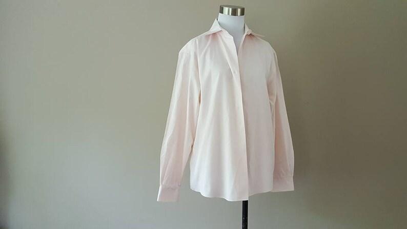 Dress Shirt Size 10 Talbots Women/'s Pink Medium