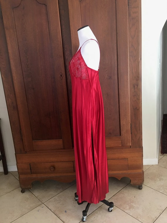 SILK Nightgown Large Nordstrom Lingerie Red... - image 6