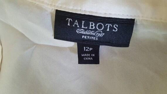 373dc519472f2a Blouse SILK 12P Talbots Butter Yellow Ruffles Medium
