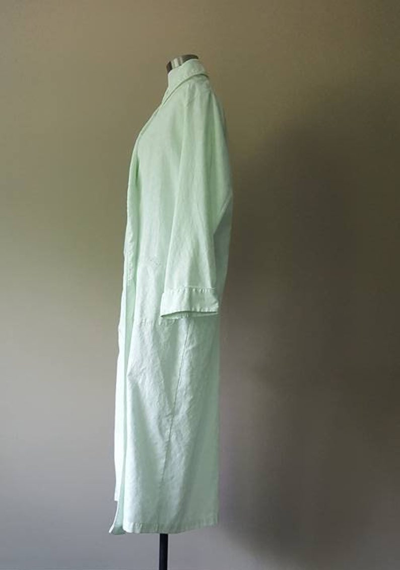Robe Large Miss Elaine Green Large Long Vintage Lingerie