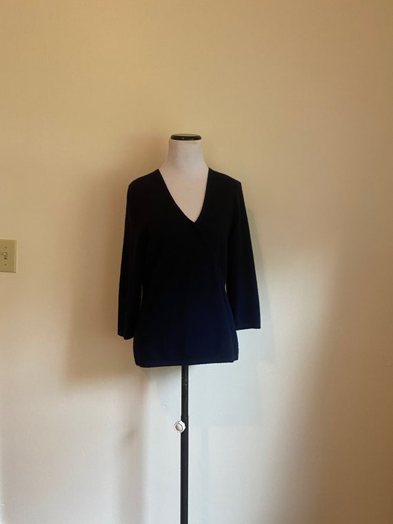CASHMERE Medium Navy Blue Pullover Sweater by Dani