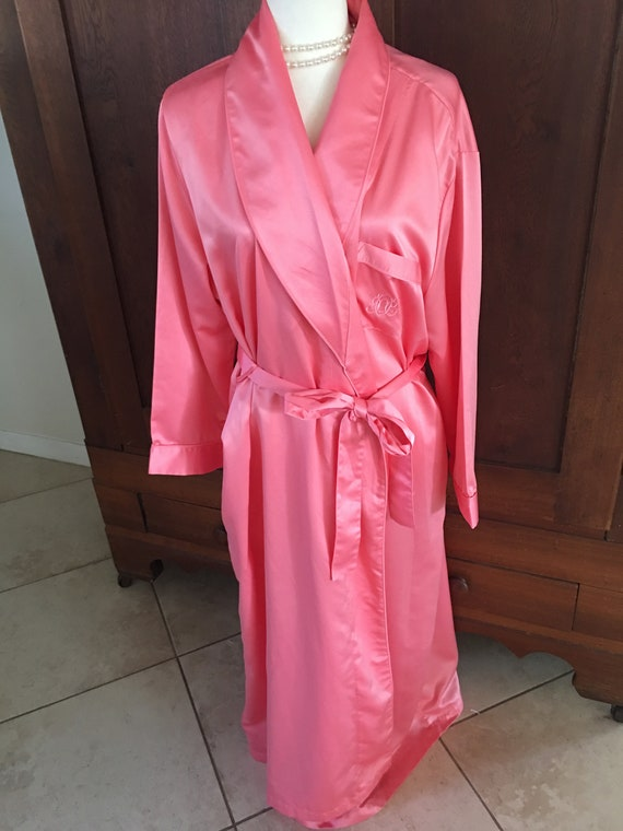 1X Cabernet Pink Satin Robe Extra Large 8ac70406a
