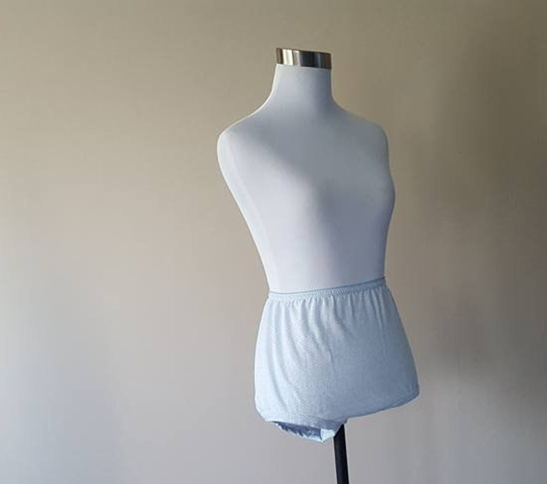 Size 7  Puffeaze  Panties  Blue Cotton and Polyester  Made in USA  Medium