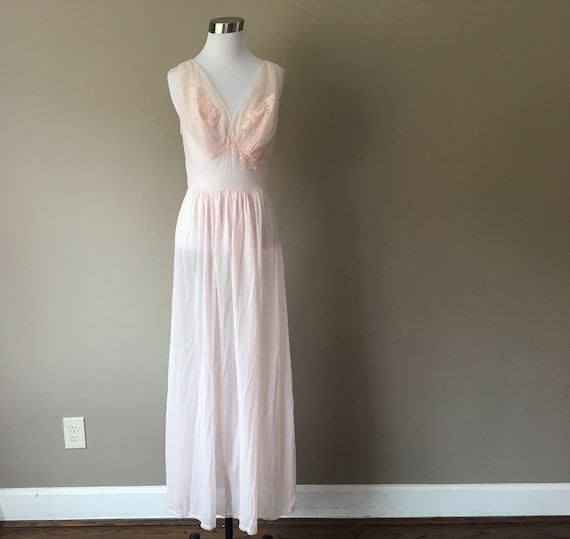 Vintage Size 34 Vanity Fair Nightgown, Pink, 1960'